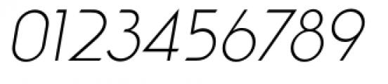 Viata Thin Oblique Font OTHER CHARS