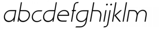 Viata Thin Oblique Font LOWERCASE