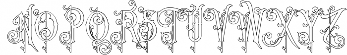 Victorian Fonts Collection 11 Font UPPERCASE