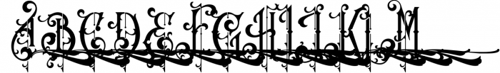 Victorian Fonts Collection 13 Font UPPERCASE