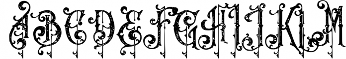 Victorian Fonts Collection 14 Font UPPERCASE