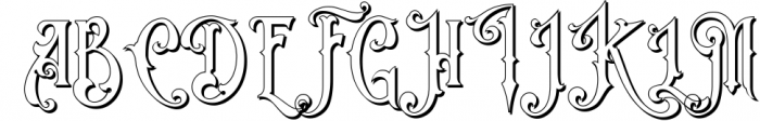 Victorian Fonts Collection 6 Font UPPERCASE