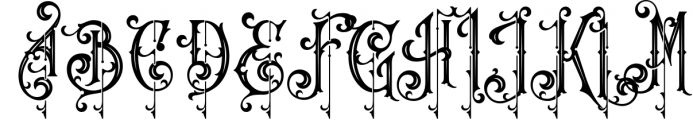 Victorian Fonts Collection 8 Font UPPERCASE