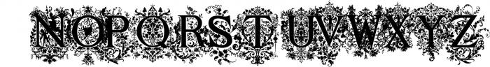 Victorian Ornamental Capitals Font UPPERCASE