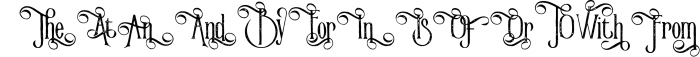 Victorian Parlor Font UPPERCASE
