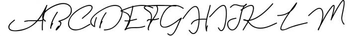 Violitta Signature typeface 1 Font UPPERCASE