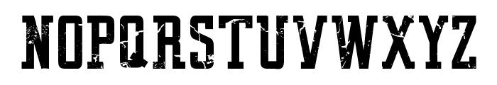VINTAGE COLLEGE DEPT_DEMO_worn Font UPPERCASE