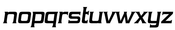 Vibrocentric-BoldItalic Font LOWERCASE