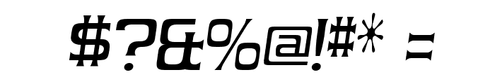 Vibrocentric-Italic Font OTHER CHARS