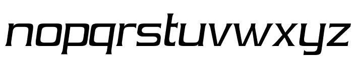 Vibrocentric-Italic Font LOWERCASE