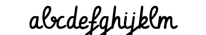 Vibur Font LOWERCASE