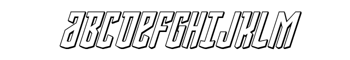 Viceroy of Deacons 3D Italic Font UPPERCASE