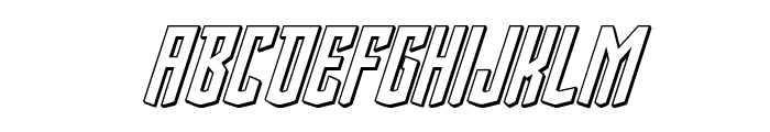 Viceroy of Deacons 3D Italic Font LOWERCASE