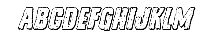 Vicious Hunger 3D Italic Font LOWERCASE