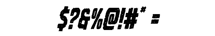 Vicious Hunger Condensed Italic Font OTHER CHARS