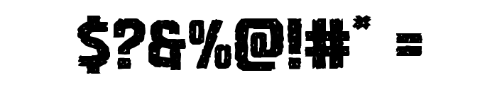 Vicious Hunger Expanded Font OTHER CHARS