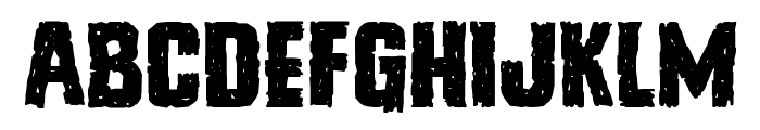Vicious Hunger Expanded Font UPPERCASE