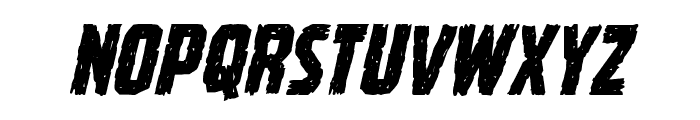 Vicious Hunger Italic Font LOWERCASE
