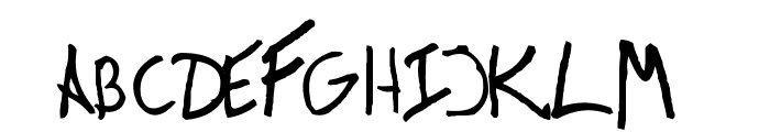 Victor Handwriting Font UPPERCASE