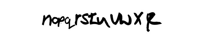Victor Handwriting Font LOWERCASE