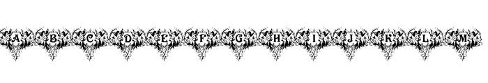 Victorian Angels Font UPPERCASE