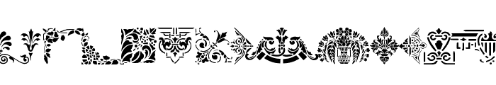 Victorian Designs Three Font UPPERCASE