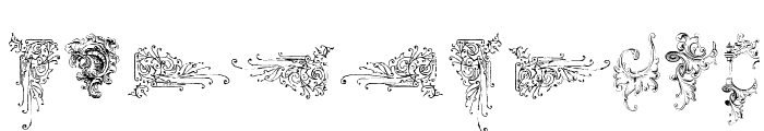 Victorian Free Ornaments Two Font OTHER CHARS