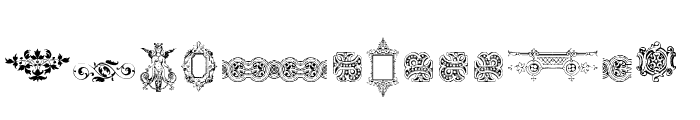 Victorian Free Ornaments Two Font LOWERCASE