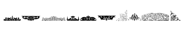Victorian Free Ornaments Font OTHER CHARS