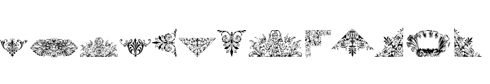 Victorian Free Ornaments Font UPPERCASE