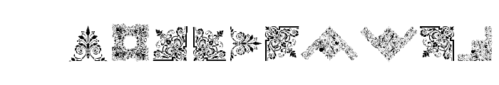 Victorian Free Ornaments Font LOWERCASE