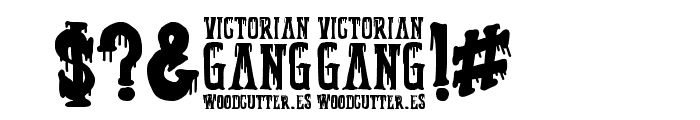 Victorian Gang Font OTHER CHARS