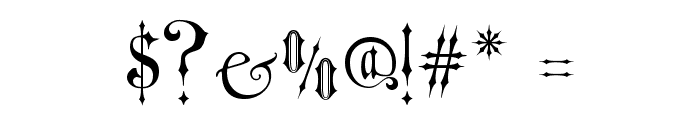 Victorian Gothic One Font OTHER CHARS