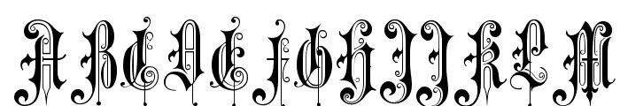 Victorian Gothic One Font UPPERCASE