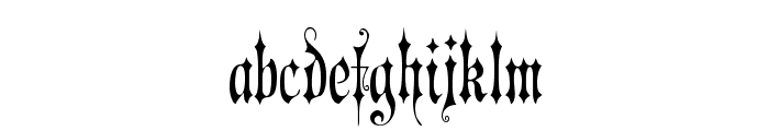 Victorian Gothic One Font LOWERCASE