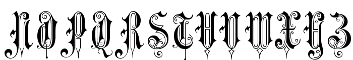 Victorian Gothic Two Font UPPERCASE