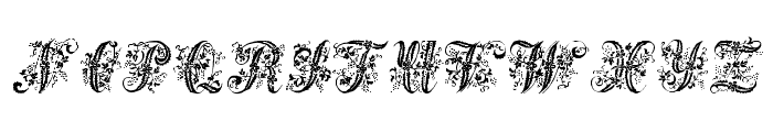 Victorian Initials One Font UPPERCASE