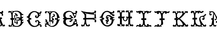 VictorianInitialsOne Font UPPERCASE