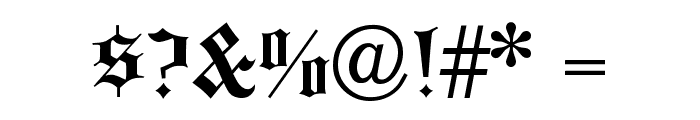VictorianText Font OTHER CHARS