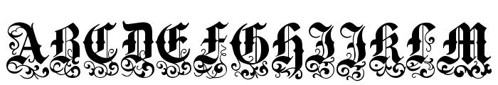 VictorianText Font UPPERCASE
