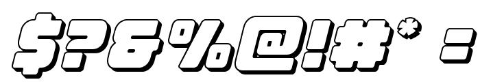 Victory Comics 3D Semi-Italic Font OTHER CHARS