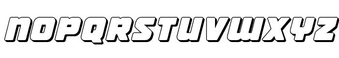 Victory Comics 3D Semi-Italic Font LOWERCASE
