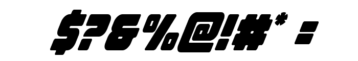 Victory Comics Condensed Italic Font OTHER CHARS