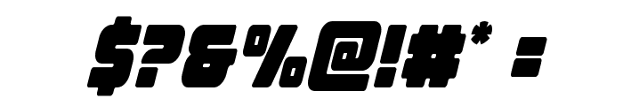 Victory Comics Condensed Semi-Italic Font OTHER CHARS