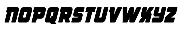 Victory Comics Condensed Semi-Italic Font UPPERCASE