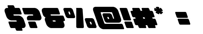 Victory Comics Leftalic Font OTHER CHARS