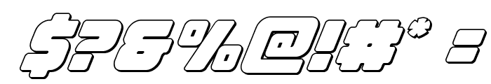 Victory Comics Outline Italic Font OTHER CHARS