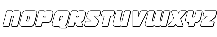 Victory Comics Outline Semi-Italic Font LOWERCASE