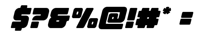 Victory Comics Semi-Italic Font OTHER CHARS