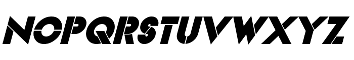 Videopac Bold Italic Font UPPERCASE